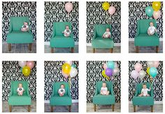 Month by Month Baby Photo Ideas- use balloons!