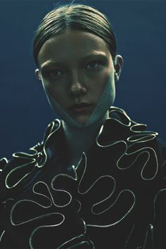 """yumi lambert in """"a sweet little bullet from a pretty blue gun"""" by rory payne for exit magazine f/w 2014"""
