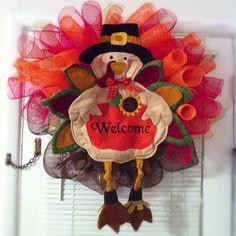Thanksgiving Turkey Wreath!!