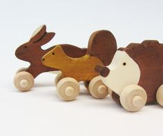 Woodland Animal Set. Eco-friendly toys by Imaginationkids on etsy $30.00