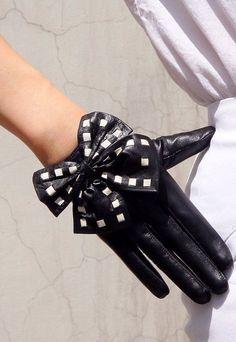 black gloves white bows - Google Search