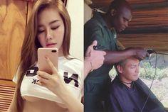Đàn em đăng ảnh thách thức Ngọc Trinh; tiết lộ lý do MC Phan Anh cạo trọc đầu - Lao động