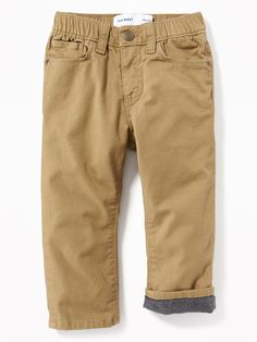 9ad91cadd Relaxed Flannel-Lined Pull-On Pants for Toddler Boys   Old Navy Toddler Boy