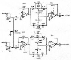 Low cost effective Bass-Treble circuit using Op-Amp 741