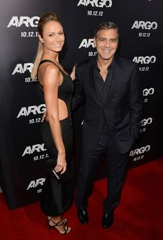 George Clooney and Stacy Kiebler at the Argo premiere