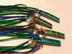 Teenage Mutant Ninja Turtles TMNT braided barrettes by Keltique, $5.00