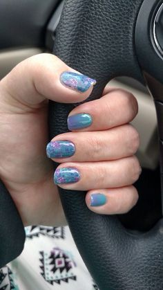 Jamberry turple and koi pond Uñas Jamberry, Jamberry Nail Wraps, Jamberry Style, Gorgeous Nails, Pretty Nails, Fun Nails, Jamberry Combinations, Watermelon Nails, Super Cute Nails