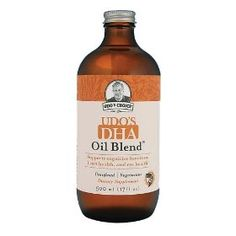 Udo's DHA 3-6-9 Oil Blend. Best DHA product we've used, generally throw a teaspoon or two into a morning or pre-bed shake.
