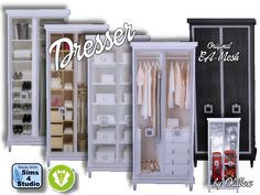 Sims 4 CC's - The Best — Dresser Vintage by Oldbox...