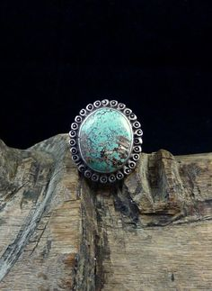 Size 8 Vintage Navajo Sterling Silver Ring w Beautiful Number 8 Turquoise Stone! Gorgeous Old Ring w Great Silversmithing Details!