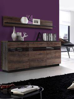Sideboard Und Wandboard Schlammeiche/ Schwarzeiche Mit Beleuchtung Woody  77 00898 Holz Modern Jetzt Bestellen Unter: Https://moebel.ladendirekt.de/  ...