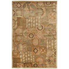 Safavieh Handmade Plaid Beige Wool Rug (9' x 12') (HA815A-9) (Cotton, Geometric)