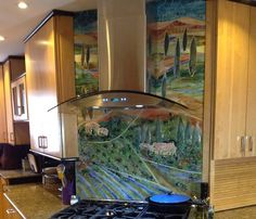 Glass Tuscan Mural for Kitchen | Designer Glass Mosaics | Designer Glass Mosaics