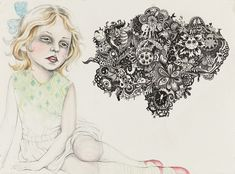 Julie Nord's drawings are eerie, yet compelling