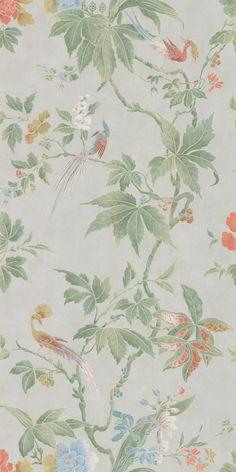 Paradise Pale Grey wallpaper by Little Greene