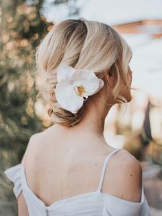 """Tropical Real Feel Orchid Bridal Hair Flower ~ """"Carley"""" - Bridal Hair Accessories by Hair Comes the Bride"""