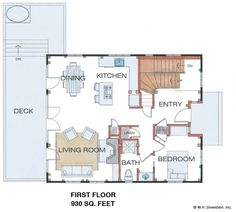 Hawk Mountain Timber Frame First Floor Plan