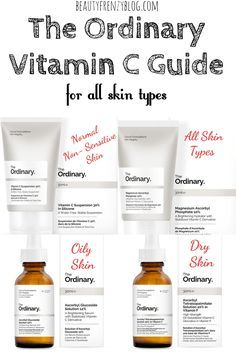 The Ordinary Vitamin C Guide for all Skin Types. The Ordinary Vitamin C Guide. There are so many different forms of Vitamin C from The Ordinary. It can be really confusing to know which to pick. Beauty Care, Beauty Skin, Beauty Hacks, Beauty Tips, Beauty Products, Diy Beauty, Beauty Ideas, Best Skincare Products, Face Products