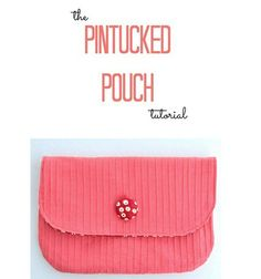 Christie from Lemon Squeezy Home guest blogs at U Create with a tutorial showing how to make her Pintucked Pouch. Her tutorial includes how to use a pintuck foot and a twin needle to create the ev…