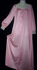 Vanity Fair Pink & Lace Yoked Victorian Style Nightgown Full Length Front (mondas66) Tags: lace victorian lingerie boudoir lacy nightgown nightgowns nightdress vanityfair nightwear nightie lacework nighties nightdresses