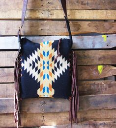 Leather & Wool Black Fringed Bag | Women's Bags & Accessories | Mercy Grey Design Co. | Scoutmob Shoppe | Product Detail