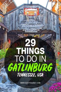 Wondering what to do in Gatlinburg TN? This travel guide will show you the top attractions best activities places to visit & fun things to do in Gatlinburg Tennessee. Start planning your itinerary & bucket list now! Travel Tips Travel Hacks packing tour Gatlinburg Vacation, Tennessee Vacation, Gatlinburg Tn, Nashville Tennessee, Pigeon Forge Tennessee, Gatlinburg Attractions, Gatlinburg Tennessee Restaurants, Visit Tennessee, Sevierville Tennessee