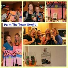Last Night one of my best friends hosted a Paint the Town Studio Paint and Sip Party at her house.   It was the perfect Momee Friends Night Out!