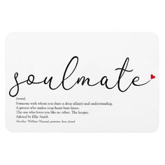 Shop Script Love Heart Soulmate Definition Magnet created by thisisnotmedesigns. Cute Notes For Boyfriend, Things To Do With Your Boyfriend, Drawings For Boyfriend, Cute Boyfriend Gifts, Birthday Gifts For Boyfriend, Scrapbook Ideas For Boyfriend, Birthday Ideas For Boyfriend, Boyfriend Care Package, Husband Birthday