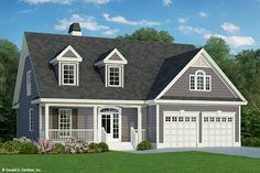 Country Style House Plan - 3 Beds 2.50 Baths 1859 Sq/Ft Plan #929-52 Exterior - Front Elevation
