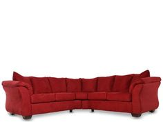 ASH-75001/SECT - Ashley Darcy Red Sectional | Mathis Brothers Furniture