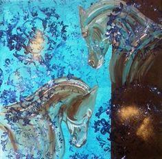 """Ein Werk aus meiner Serie """" Barockpferde """" Acryl auf Leinwand"""