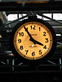 Paris train station clock