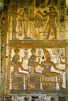 Medinet Habu Temple Luxor Egypt Hathor Amun Sekhmet Ptah Isis Gods.