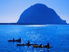 Kayaking in Morro Bay passed Morro Rock, San Luis Obispo County (our own American Gibraltar) Kayaks, Canoes, Kayak Rentals, San Luis Obispo County, Morro Bay, Vacation Spots, North America, California City, United States