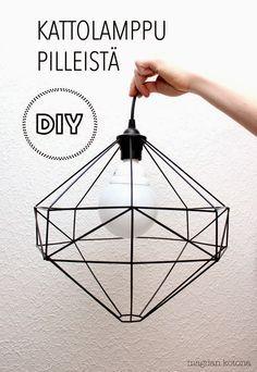 Diy Crafts Ideas Magdan kotona: Diy uusi lamppu + ohje -Read More – Luminaria Diy, Diy Straw, Diy Pendant Light, Pendant Lamp, Lampe Decoration, Diy Interior, Home And Deco, Diy Projects To Try, Diy Furniture