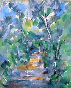 PAUL CÉZANNE Sous-bois (Chemin du Mas Jolie au Château noir) Forest Scene, Path from Mas Jolie to Château noir), 1900-02