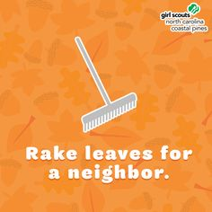 The leaves are changing—and falling! Our third idea is to lend a helping hand. Rake leaves for a neighbor or a public space in your community. Jumping in the leaf pile when done! Autumn Activities, Girl Scouts, Third, Coastal, Public, Party Ideas, Leaves, Community, Space