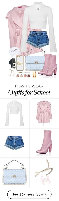 """oFF"" by nicolesauviat on Polyvore featuring Boohoo, Off-White, Valentino, BaubleBar, SpyLoveBuy, Nasaseasons, Terre Mère, Yves Saint Laurent, Christian Dior and Chanel"