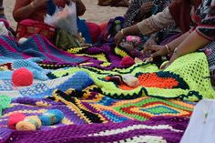 Mother India's crochet queens (MICQ ) Team hit Guiness world record for largest crochet blanket from India.