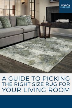 Get the top tips for choosing the perfect size area rug for your living room!