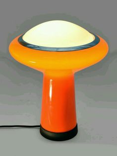 Mazzega glass mushroom table lamp