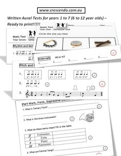 Crescendo Music Education- free assessments!