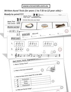 Crescendo Music Education- free assessments!