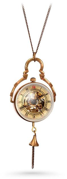 Steampunk Crystal Orb Watch Pendant --- WANT!!!