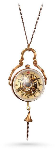 Steampunk Crystal Orb Watch Pendant