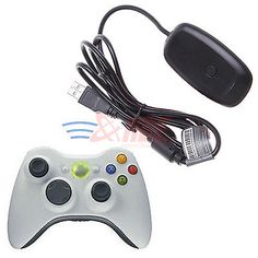 Black PC Wireless Controller Gaming USB Receiver Adapter For Microsoft XBOX 360 - http://videogameghosts.com/black-pc-wireless-controller-gaming-usb-receiver-adapter-for-microsoft-xbox-360/