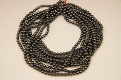 1strand  natural hematite plain ball 6mm by 3yes on Etsy