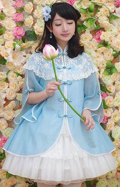 (中華民国風 レース立て襟 シフォン 仮2セット ロリータドレス [#JP5110434] - 13,323円から)
