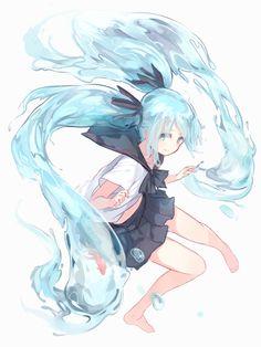 Browse VOCALOID Hatsune Miku Miku Hatsune collected by Pauline Aspe and make your own Anime album. Manga Anime, Anime Chibi, Kawaii Anime, Me Anime, Anime Hair, Manga Girl, Anime Girls, Hatsune Miku Vocaloid, Miku Chan