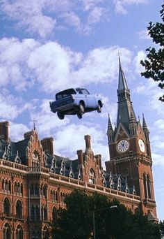 """""""Ron, I should tell you... most muggles aren't accustomed to seeing a flying car!"""""""
